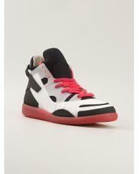 Maison Martin Margiela Colour Block Hitop Sneakers - Lyst