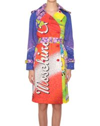 Moschino Soda Printed Cotton Trench Coat - Lyst