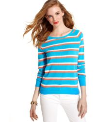 Tommy Hilfiger Longsleeve Mesh Striped Sweater - Lyst