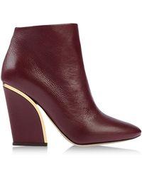Chloé Purple Ankle Boots - Lyst