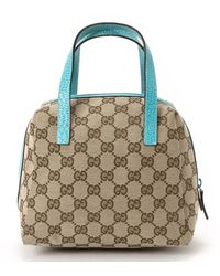 Gucci Beige & Blue Handbag - Lyst