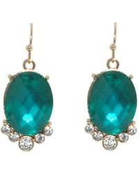 1928 - Gold Erinite Faceted Oval Earrings - Lyst