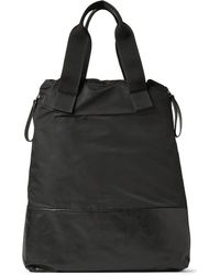 Lanvin - Leather and Nylon Tote Bag - Lyst