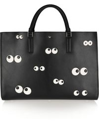Anya Hindmarch Nocturnal Ebury Maxi Embossed Leather Tote - Lyst
