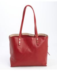 Chloé Red Leather Large Dilan Tote Bag - Lyst