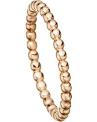 Astley Clarke 18 Carat Rose Gold Vermeil Beaded Stacking Ring - For Women - Lyst