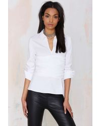 Nasty Gal Front & Center Blouse - Lyst