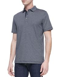 Michael Kors Collection Striped Shortsleeve Polo - Lyst