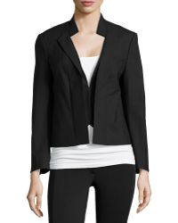 Halston Heritage Long-sleeve Cropped Tailored Jacket - Lyst