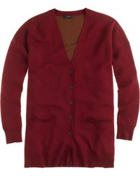 J.Crew Doubleknit Merino Wool Long Cardigan - Lyst