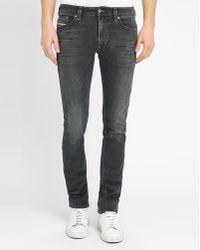 DIESEL   Grey Thavar Slim-fit Jeans   Lyst