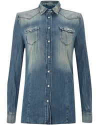 Replay Denim Shirt Slim Fit - Lyst