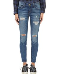 Current/Elliott The Stiletto Dstressed Jeans - Lyst