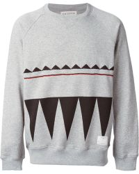 The Editor Gray Embroidered Sweatshirt - Lyst