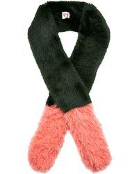 Shrimps - Martha Colorblock Fur Scarf - Lyst