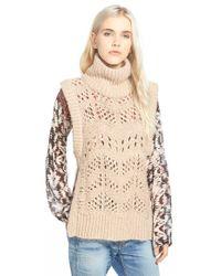 Plenty by Tracy Reese - Sleeveless Turtleneck Sweater - Lyst