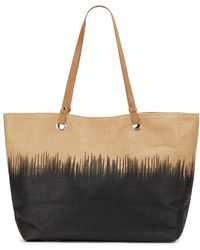 Saks Fifth Avenue Ombrã© Straw Tote - Lyst
