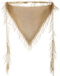 Isabel Marant Linares Mesh Chain Necklace - Lyst
