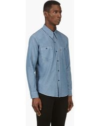 Levi's Vintage Clothing Blue Chambray Shirt - Lyst