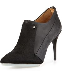 L.a.m.b. Tracie Leather and Calf Hair Bootie - Lyst