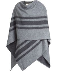 Burberry Wool-Cashmere Blanket Cape - Lyst