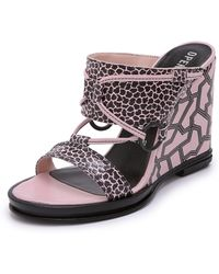 Opening Ceremony Mae Ankle Strap Wedges - Blush Pink - Lyst