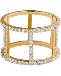 Lana Jewelry 14K Fatale Dash Ring With Diamonds - Lyst