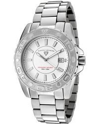 Swiss Legend - Grande Sport Stainless Steel White Dial Silver-tone Accents - Lyst