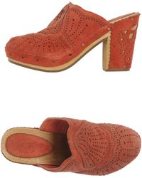 Ash Red Open-Toe Mules - Lyst