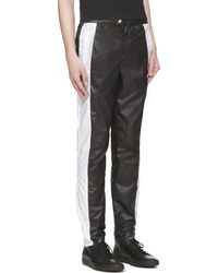Versus  Black And White Track Trousers - Lyst
