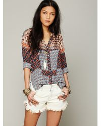 Free People Fp One Samba Mix Shirt - Lyst