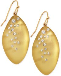 Alexis Bittar Medium Crystaldust Lucite Leaflet Earrings Made To Order - Lyst