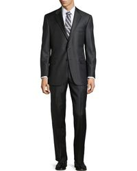 Hickey Freeman Two-Piece Solid Loro Piana Suit - Lyst