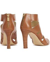 1ab467b6b0be Michael Kors - Gisele Oak Cut-Out Leather Sandals - Lyst