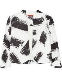 Alice + Olivia York Printed Crepe Jacket - Lyst