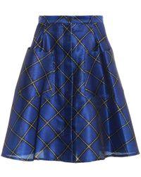 Jonathan Saunders Charlotte Check-Print Skirt - Lyst
