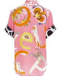 Swash London - Abcs Waikiki Jackie Silk Shirt - Lyst
