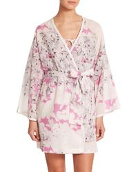 Natori Kona Cotton Robe - Lyst