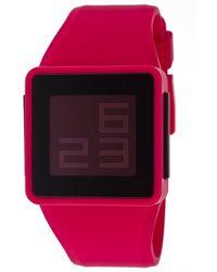 Nixon Men'S Digital Multi-Function Pink Rubber - Lyst