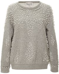 Sea Beaded Sweatshirt - Lyst