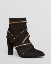 Stuart Weitzman Pointed Toe Booties Pistolero Zipper High Heel - Lyst
