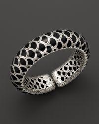 John Hardy Naga Sterling Silver Black Enamel Scale Cuff - Lyst