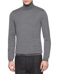 Gucci Fine Wool Knit Turtleneck Sweater - Lyst