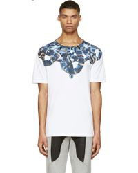 Marcelo Burlon County Of Milan White and Blue Moon Snake T_shirt - Lyst