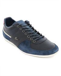 Lacoste Taloire 16 Blue Leather Stripe Detail Sneakers - Lyst