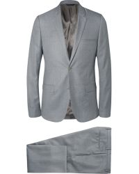 Calvin Klein Grey Slim-Fit Wool And Silk-Blend Suit - Lyst