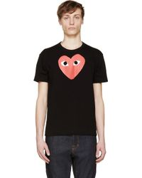 Play Comme des Garçons Black And Red Logo T_Shirt - Lyst