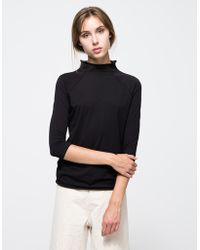 Need Supply Co. Mock Neck Layering Top black - Lyst