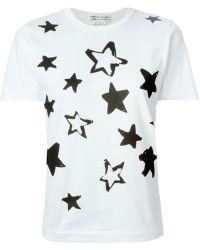 Comme des Garçons Star Print T-Shirt - Lyst