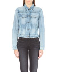 Citizens Of Humanity Distressed Denim Jacket - Lyst